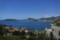 Montenegro - pärlan av den Adriatiska havet kusten Arkivfoto