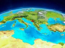 Montenegro på jord Fotografering för Bildbyråer