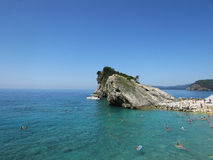 Montenegro panorama. Of the island of St. Nicholas Royalty Free Stock Image