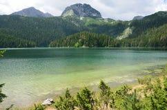 Montenegro, park narodowy Durmitor, Czarny jezioro w lecie Obraz Royalty Free