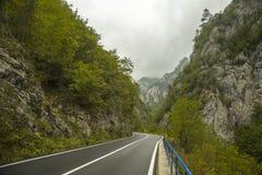 montenegro Parque nacional de Durmitor Tara River Canyon Foto de Stock