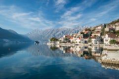 montenegro perast在科教文组织之下的保护城镇 免版税图库摄影