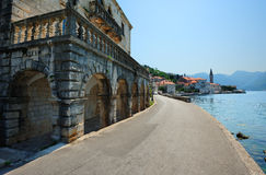 montenegro perast城镇 免版税库存图片