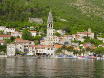 Montenegro, Perast. View of architecture of Montenegro from the sea Royalty Free Stock Image