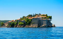Montenegro. On this photo the island St Stefan is represented royalty free stock images