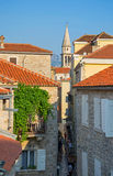 Montenegro. On this photo the part of the street of the old city is represented royalty free stock photos
