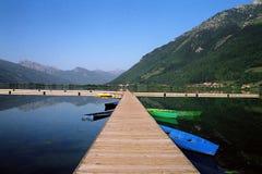 湖montenegro plav 库存图片