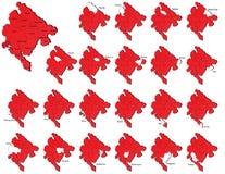 Montenegro prowincj mapy Zdjęcia Royalty Free