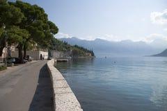Montenegro. Quay of  Perast Stock Image