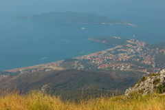 Montenegro, Rafailovici. view on sea beach Royalty Free Stock Image