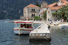 Montenegro. Rest in Montenegro. Perast is an old town on the Bay of Kotor in Montenegro. It is situated a few kilometres northwest of Kotor Stock Photo