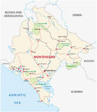 Montenegro road map Stock Photography