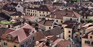 Montenegro: Roofs of Kotor Royalty Free Stock Photos