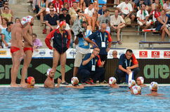 Montenegro's PEROVIC Ranko head coach talking about the tactics Stock Photography