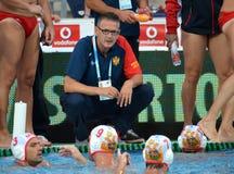 Montenegro's PEROVIC Ranko head coach talking about the tactics Royalty Free Stock Photos