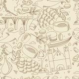 Montenegro seamless retro vector illustration Stock Images