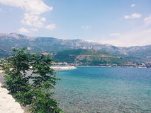 Montenegro sikt Arkivfoto