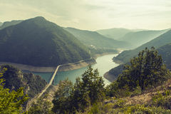 montenegro Sosta nazionale di Durmitor Canyon del fiume di Piva Immagine Stock Libera da Diritti