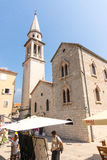 Montenegro: St. Ivan in the old Budva Stock Images