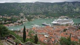 Montenegro stad Kotor Fotografering för Bildbyråer