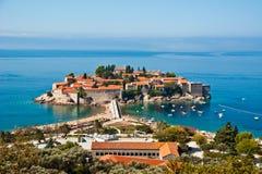 montenegro stefan sveti Royaltyfria Bilder
