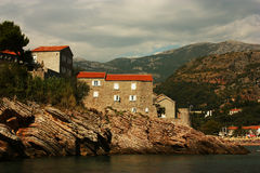 montenegro stefan sveti Arkivfoton