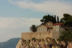 montenegro stefan sveti Arkivfoto
