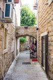 Montenegro: street in the old Budva Stock Photography