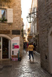 Montenegro. Street in Perast Stock Photo