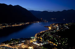 Montenegro. Sunrise in the city of kotor, balcans, montenegro Stock Image