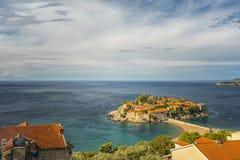 Montenegro Sveti Stefan Royaltyfria Foton