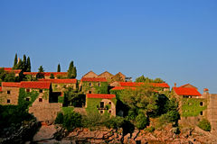 Montenegro. Sveti Stefan. Travel. Summer in Montenegro. Sveti Stefan island Stock Photography