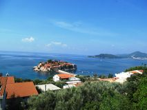 Montenegro, Sveti Stefan. Adriatic sea, Montenegro, Sveti Stefan, summer vacation at sea Royalty Free Stock Image