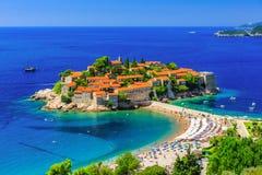 Montenegro. Sveti Stefan island in Budva, Montenegro Royalty Free Stock Image
