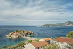 Montenegro Sveti Stefan Stock Photography