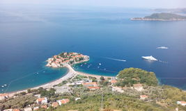 Montenegro. SvetiStefan panorama view Royalty Free Stock Photos