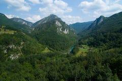 Montenegro. Tara Canyon. Mountains in Montenegro in the summer Stock Photos