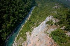Montenegro. Tara-Flussschlucht Lizenzfreie Stockfotografie