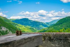 In Montenegro there is a deep canyon Royalty Free Stock Image
