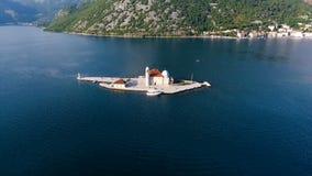 Montenegro, tiro do ar da baía video estoque