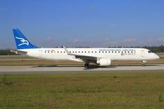 Montenegro trafikflygplan arkivfoto