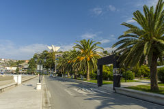 Montenegro. Ulcinj. . The main tourist Avenue royalty free stock image