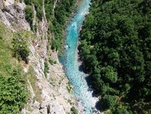 Montenegro View from the bridge over the river Royalty Free Stock Photography