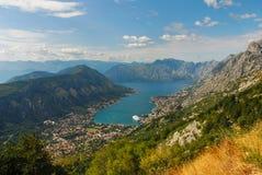 Montenegro view. Kotor Bay landscape, Montenegro 2016 Stock Image