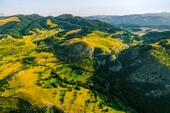 Montenegro village in the mountains - aerial Royalty Free Stock Images