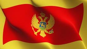 Montenegro vlag die op wind golven stock illustratie