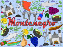 Montenegro wektoru ilustracja ilustracji