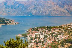 Montenegro widok nad zatoką obrazy stock