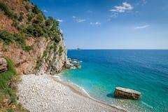 Montenegro wild beach Stock Photo