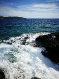 Montenegro wild beauty. Beach Royalty Free Stock Photos